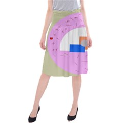 Decorative abstract circle Midi Beach Skirt