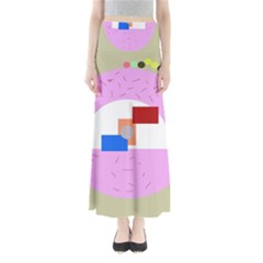 Decorative abstract circle Maxi Skirts