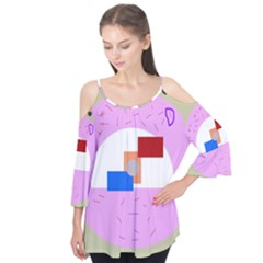 Decorative abstract circle Flutter Tees