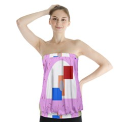 Decorative abstract circle Strapless Top