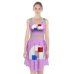 Decorative abstract circle Racerback Midi Dress