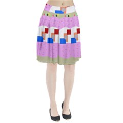 Decorative abstract circle Pleated Skirt