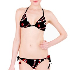 Red pearls Bikini Set