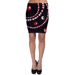 Red pearls Bodycon Skirt