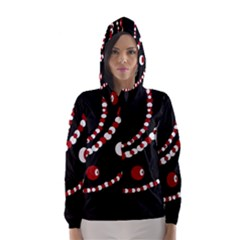 Red pearls Hooded Wind Breaker (Women)