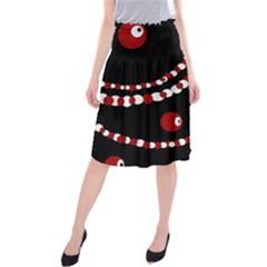 Red pearls Midi Beach Skirt