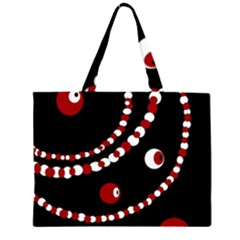 Red pearls Large Tote Bag
