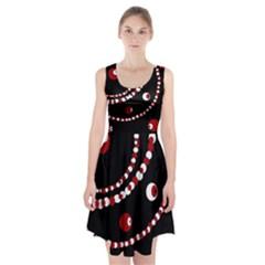 Red pearls Racerback Midi Dress