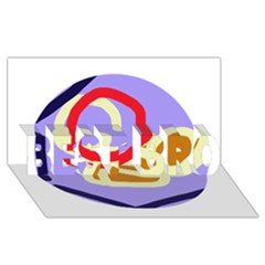 Abstract circle BEST BRO 3D Greeting Card (8x4)