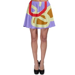 Abstract circle Skater Skirt