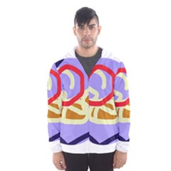 Abstract circle Hooded Wind Breaker (Men)