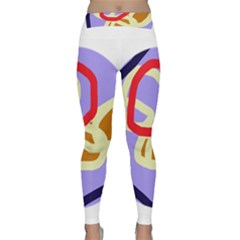 Abstract circle Yoga Leggings