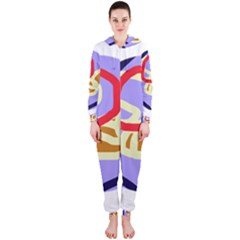 Abstract circle Hooded Jumpsuit (Ladies)
