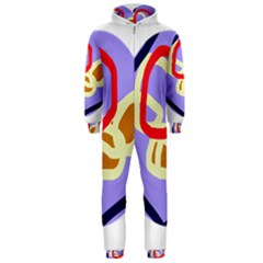 Abstract circle Hooded Jumpsuit (Men)