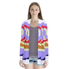 Abstract circle Drape Collar Cardigan