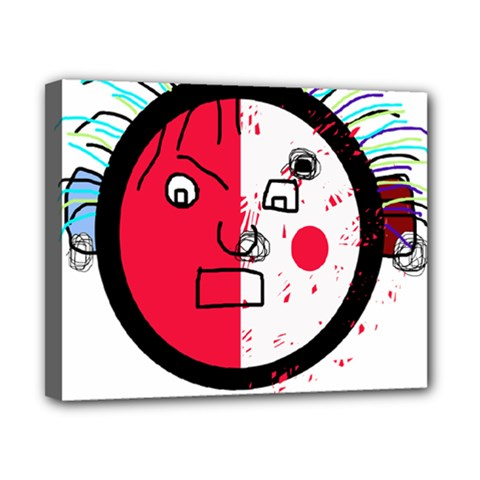 Angry transparent face Canvas 10  x 8