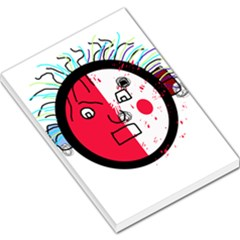 Angry transparent face Large Memo Pads