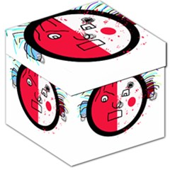 Angry transparent face Storage Stool 12