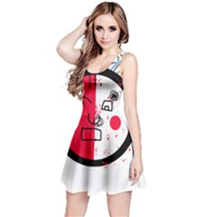 Angry transparent face Reversible Sleeveless Dress