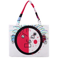 Angry transparent face Mini Tote Bag