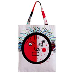 Angry transparent face Zipper Classic Tote Bag