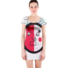 Angry transparent face Short Sleeve Bodycon Dress