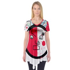 Angry transparent face Short Sleeve Tunic