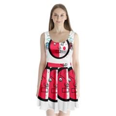 Angry transparent face Split Back Mini Dress