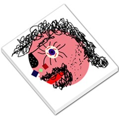 Abstract face Small Memo Pads