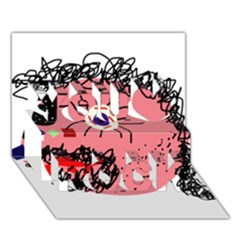 Abstract face You Rock 3D Greeting Card (7x5)