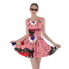 Abstract face Skater Dress
