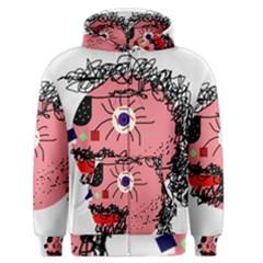 Abstract face Men s Zipper Hoodie