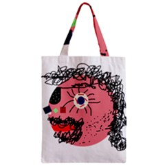 Abstract face Zipper Classic Tote Bag