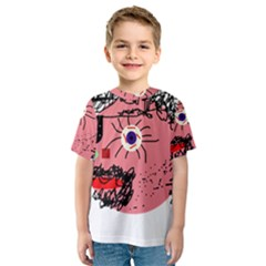 Abstract face Kid s Sport Mesh Tee