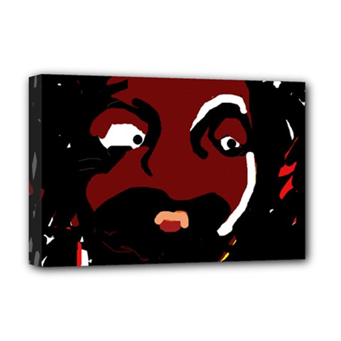 Abstract face  Deluxe Canvas 18  x 12