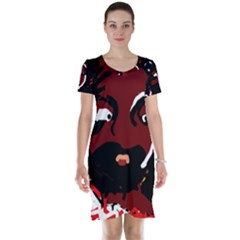 Abstract face  Short Sleeve Nightdress