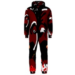 Abstract face  Hooded Jumpsuit (Men)