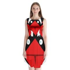 Duck Sleeveless Chiffon Dress