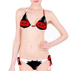 Face Bikini Set