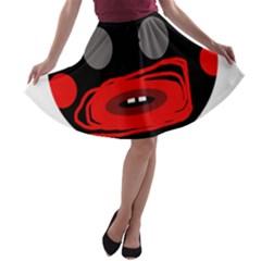 Face A-line Skater Skirt