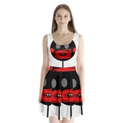 Face Split Back Mini Dress