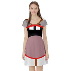 Funny face Short Sleeve Skater Dress