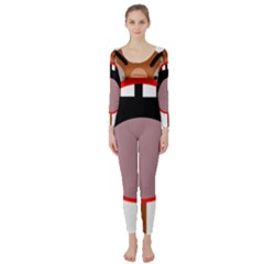 Funny face Long Sleeve Catsuit