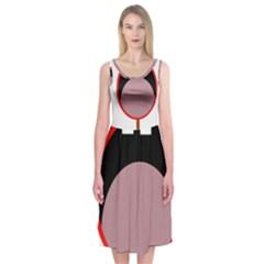 Funny face Midi Sleeveless Dress