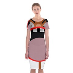 Funny face Classic Short Sleeve Midi Dress