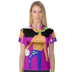 Goalkeeper Women s V-Neck Sport Mesh Tee