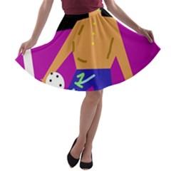 Goalkeeper A-line Skater Skirt