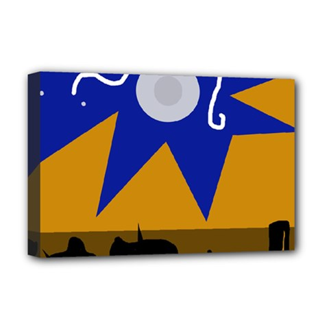Decorative abstraction Deluxe Canvas 18  x 12