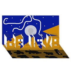 Decorative abstraction BELIEVE 3D Greeting Card (8x4)