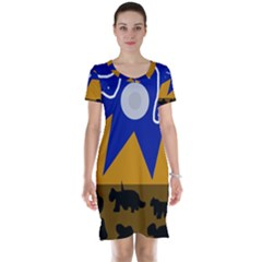 Decorative abstraction Short Sleeve Nightdress